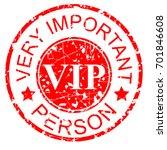 rubber stamp effect   vip | Shutterstock .eps vector #701846608
