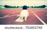 baby start crawling on runner... | Shutterstock . vector #701852740