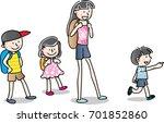 kids in outdoors   Shutterstock .eps vector #701852860