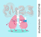 lung with air pollution concept ... | Shutterstock .eps vector #701853748