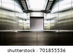 Gray Metal Elevator With A...