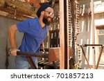 man doing exercices | Shutterstock . vector #701857213