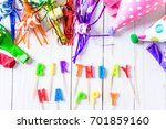 kids birthday party decorations ...   Shutterstock . vector #701859160