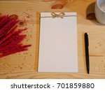 white diary to decoration with... | Shutterstock . vector #701859880