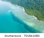 aerial view of beautiful coral... | Shutterstock . vector #701861080