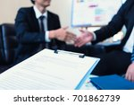 business team working on... | Shutterstock . vector #701862739