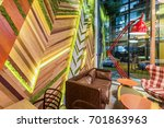 interior of a urban restaurant... | Shutterstock . vector #701863963