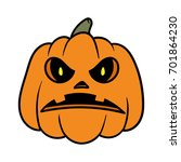 cartoon angry pumpkin