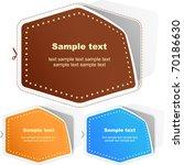 sticker. vector template for... | Shutterstock .eps vector #70186630