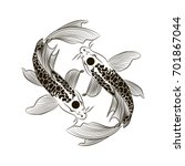 tattoo for arm black and white... | Shutterstock .eps vector #701867044