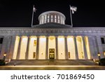 the ohio statehouse in columbus ... | Shutterstock . vector #701869450