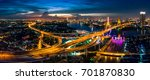 the bhumibol bridge  industrial ... | Shutterstock . vector #701870830
