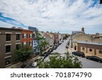 little italy area in baltimore  ... | Shutterstock . vector #701874790