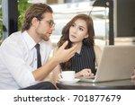 businessman talking for... | Shutterstock . vector #701877679