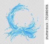 water frame. transparent splash ... | Shutterstock .eps vector #701880406