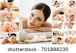 massage and healing  collection.... | Shutterstock . vector #701888230