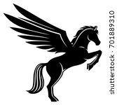 sign of pegasus. | Shutterstock .eps vector #701889310