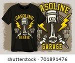 race or garage print design | Shutterstock .eps vector #701891476