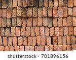 vintage  red bricks background... | Shutterstock . vector #701896156