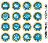 steak icons blue circle set... | Shutterstock .eps vector #701898730