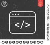 code editor icon | Shutterstock .eps vector #701906140