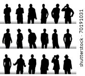 fashion men vector set | Shutterstock .eps vector #70191031
