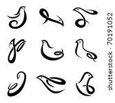bird symbol vector | Shutterstock .eps vector #70191052