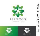 leaf nature logo | Shutterstock .eps vector #701913364