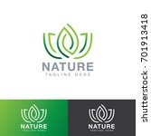 leaf nature logo | Shutterstock .eps vector #701913418