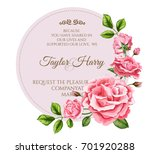 vector realistic rose flower... | Shutterstock .eps vector #701920288