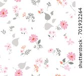 floral seamless pattern with... | Shutterstock .eps vector #701932264