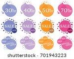 set of flat design sale...   Shutterstock .eps vector #701943223