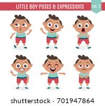 character design set of a cute... | Shutterstock .eps vector #701947864