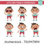 character design set of a cute... | Shutterstock .eps vector #701947894