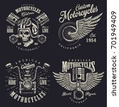 set of vintage custom... | Shutterstock . vector #701949409