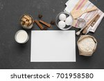 a blank white page to write... | Shutterstock . vector #701958580