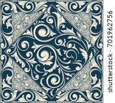 vintage ornate decorative card   Shutterstock .eps vector #701962756