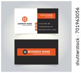 business card template | Shutterstock .eps vector #701963056