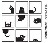 Black Cats In Nine Window...