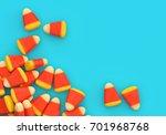 halloween candy corn corner... | Shutterstock . vector #701968768