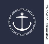 anchor emblem with circular... | Shutterstock .eps vector #701970763
