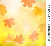 autumn background with blurred... | Shutterstock .eps vector #701972533