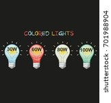 creative colorful lamp.... | Shutterstock .eps vector #701988904