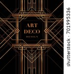the great gatsby style vector ... | Shutterstock .eps vector #701995336