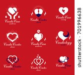 red heart shapes made using ecg ... | Shutterstock . vector #701996638