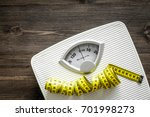 bathroom scale and measuring... | Shutterstock . vector #701998273