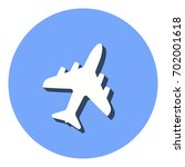 airplane vector icon with... | Shutterstock .eps vector #702001618