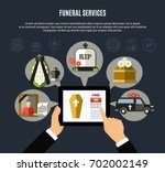 funeral services composition... | Shutterstock .eps vector #702002149