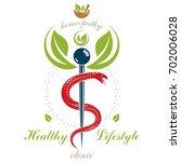 pharmacy caduceus icon  medical ... | Shutterstock . vector #702006028