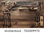 frame composed of a collection... | Shutterstock . vector #702009970